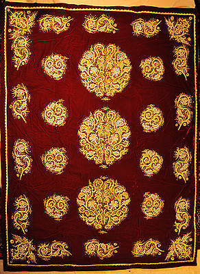 Suzani from Bukhara - Handmade Golden Embroidery 180x130cm