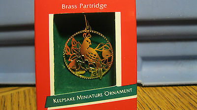 1989 Hallmark Miniature Mini BRASS PARTRIDGE