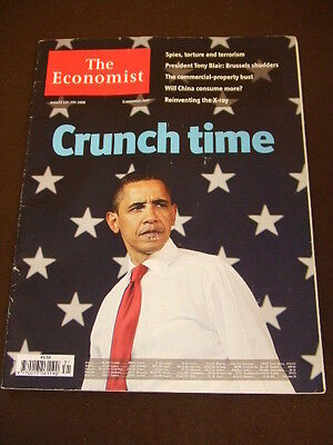 THE ECONOMIST - OBAMA CRUNCH TIME - Aug 1 2009 Vol 392 # 8642