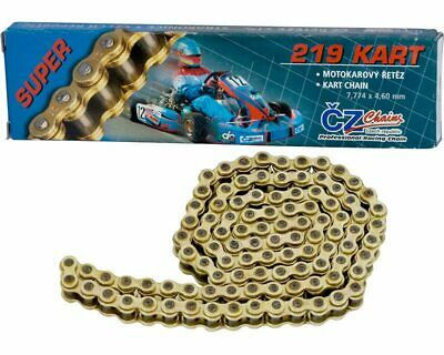 CZ 100 Link 219 Pitch Gold Racing Chain UK KART STORE