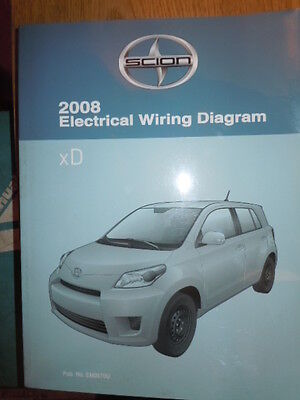2008 toyota scion xd electrical wiring diagram service manual (rx338)