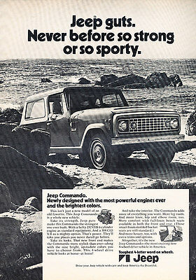 1971 Jeep Commando - Newly - Classic Vintage Advertisement Ad D49