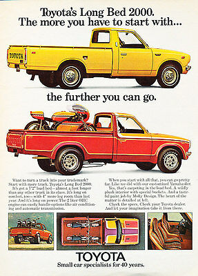 1974 Toyota Long Bed 2000 - Further - Classic Vintage Advertisement Ad D55