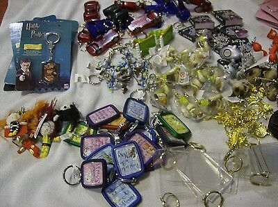 Clearance 100 Assorted New Keyrings Job Lot To Go!
