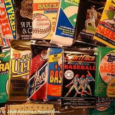 Great Lot of 50 OLD Unopened Baseball Cards In Packs!!