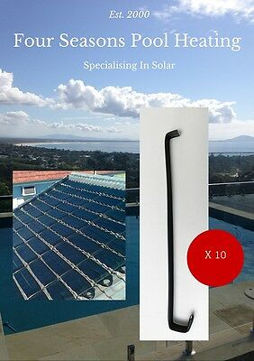 Pool / Spa Solar Heating Absorber 10 X Rubber Tile Straps Metal Inserted Ends