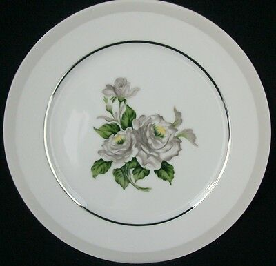 """Japan Fine China White Rose Pattern #3939 Bread & Butter Plate 6 3/8"""""""