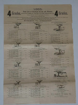 Vintage 1883 Scale Catalog! Scales For Grocers, Butchers, Butter, Tobacco, Tea!