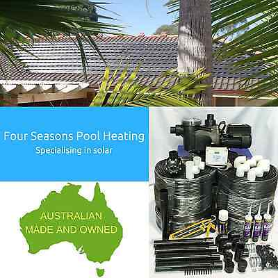 Diy Pool Solar Heating 12 Tube 49M2 - Australian Made With Pump & Controller