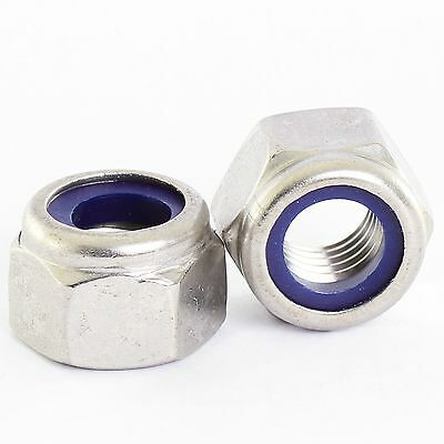 M4 M5 M6 M8 M10 M12 A2 Stainless Steel Nyloc Nylock Lock Nuts Type P Thick