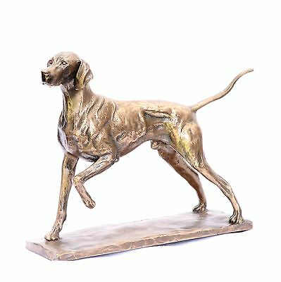 Shorthaired Pointer Bronze - Resin  Sculpture NEW gift