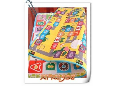 Large Baby Play Mat/Activity/Crawl/Picnic Mat 2.0Mx1.6M - Alaphbet + Monopoly