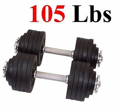 One Single 52.5 LBS Adjustable Cast Iron Dumbbells Brand New Free Shipping