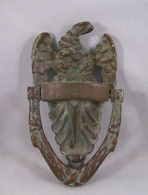 Antique American Bronze Eagle door knocker 19th century