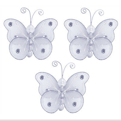 Butterfly Wedding Decorations Mini Small White Wire Table Setting Invitations 3""