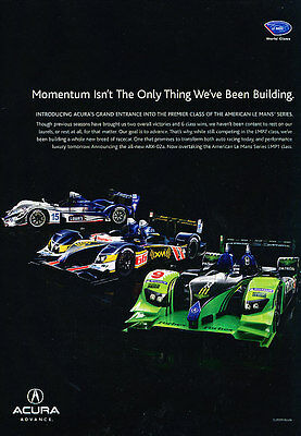 2009 Acura Advance - Racing - Classic Vintage Advertisement Ad D67