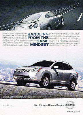 2008 Nissan Rogue - Handling - Classic Vintage Advertisement Ad D63