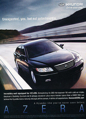 2006 Hyundai Azera - Unexpected - Classic Vintage Advertisement Ad D64