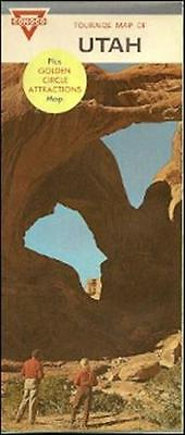 1967 CONOCO Gas Station Locator Road Map UTAH Arches National Monument Moab