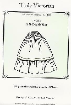 Schnittmuster Truly Victorian TV 244: 1859 Double Skirt