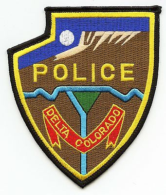 DELTA COLORADO CO colorful POLICE PATCH