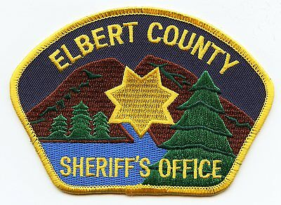 old vintage ELBERT COUNTY COLORADO CO SHERIFF POLICE PATCH