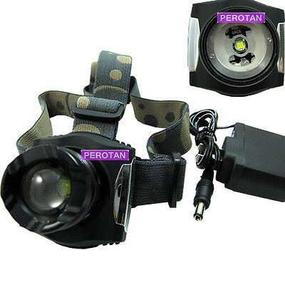 1600Lm CREE XM-L T6 LED  Headlamp Headlight Zoomable Rechargeable LiPO set