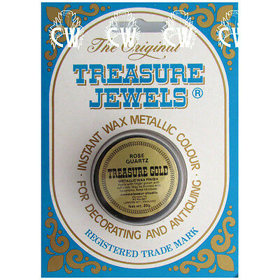 Treasure Jewels Metallic Gilding Wax 20gm ROSE QUARTZ. Rich Lustrous Gilding Wax