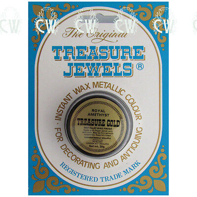Treasure Jewels Metallic Gilding Wax 20gm ROYAL AMETHYST. Rich Lustrous Wax