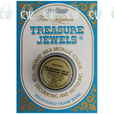 Treasure Jewels Metallic Gilding Wax 20gm SAPPHIRE. Rich Lustrous Gilding Wax