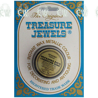 Treasure Jewels Metallic Gilding Wax 20gm SPANISH TOPAZ.Rich Lustrous Artist Wax