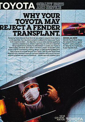 1987 Toyota Parts and Service - Doctor - Classic Vintage Advertisement Ad D74