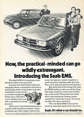 1973 Saab EMS - Practical - Classic Vintage Advertisement Ad D73