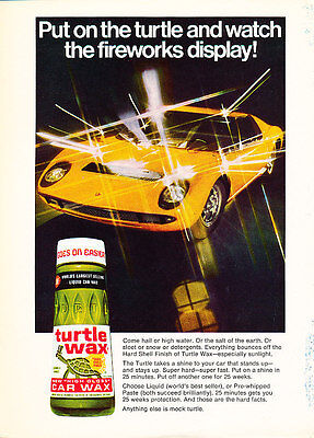 1973 Lamborghini Miura - Turtle - Classic Vintage Advertisement Ad D76