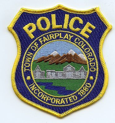 old vintage FAIRPLAY COLORADO CO POLICE PATCH