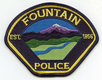 FOUNTAIN COLORADO CO very colorful POLICE PATCH
