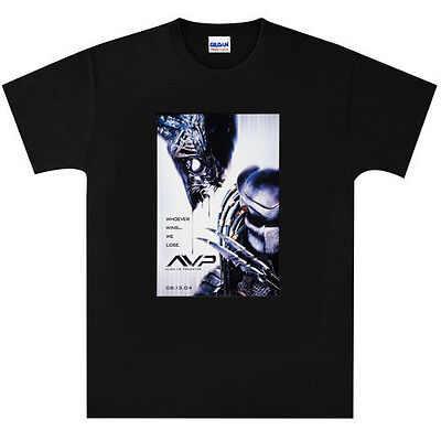 Alien v Predator AVP T Shirt New Black or White