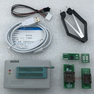 XGecu TL866II Plus USB Programmer for SPI Flash NAND EEPROM 8051 MCU +4 adapters