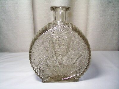 Antique Glass Round Bottle or Flask Pat. Pend. 1900-1940 Keystone w S inside