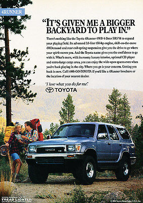 1991 Toyota 4Runner - backyard - Classic Vintage Advertisement Ad H07