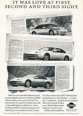 1992 Nissan 300ZX - media - Classic Vintage Advertisement Ad H09
