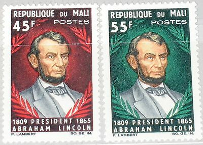 MALI 1965 103-04 72-73 Cent. Death of President Lincoln Famous Persons MNH
