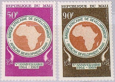 MALI 1969 210-11 127-28 Development Bank Entwicklungsbank Emblem Map Karte MNH