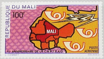 MALI 1970 216 C84 CAPTEAO 11 Ann West African Postal Union Post Mar Karte MNH