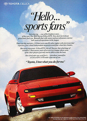 1990 Toyota Celica GT-S - red - Classic Vintage Advertisement Ad H11