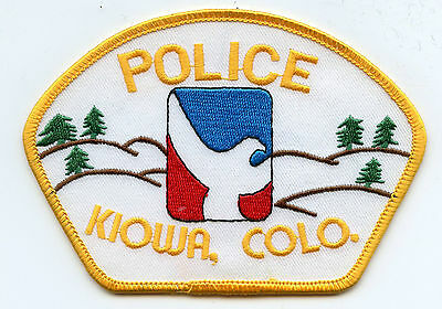 Kiowa Colorado Co Police Patch