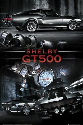Ford Shelby Mustang GT500 Large Muscle Car Poster New