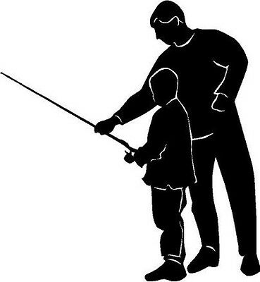 Father Son Fishing Trip Vinyl Decal Window Car Truck  Bike Trailer Wall Sticker