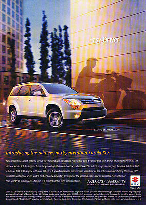 2007 Suzuki XL7 - easy driver - Classic Vintage Advertisement Ad H14