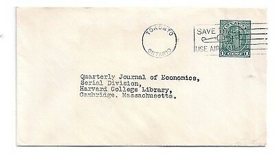 "CANADA #U49 - PRINTED MATTER - TORONTO - ""SAVE TIME USE AIRMAIL"" MUTE CXL TO US"